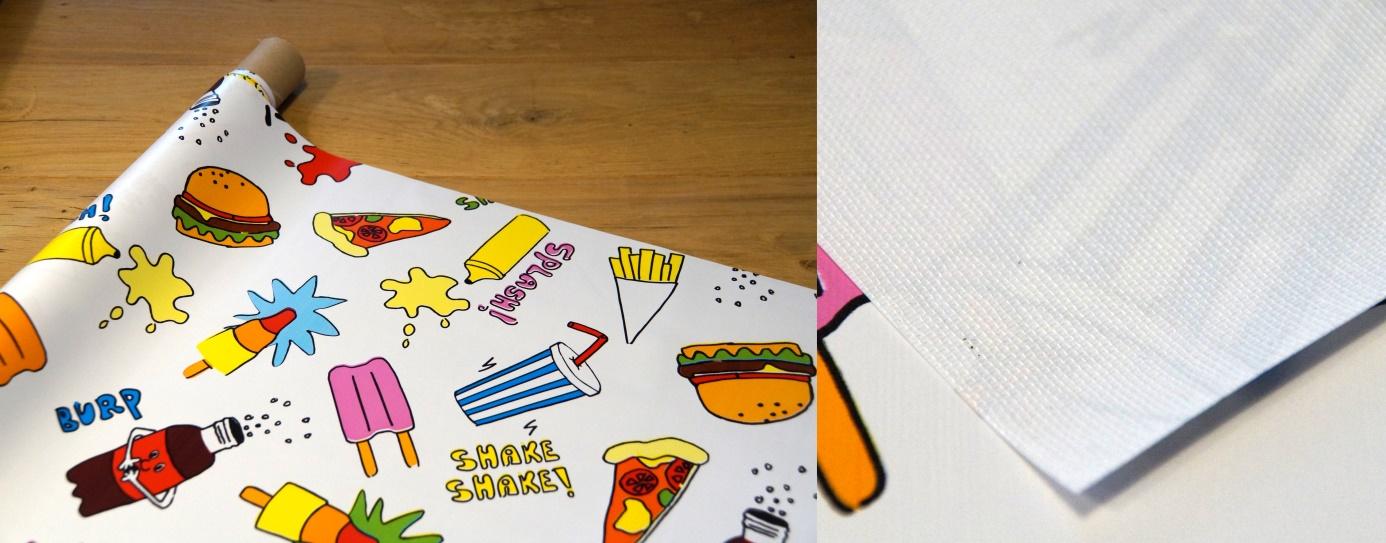 Tafelzeil van Kitsch Kitchen is voorzien van een sterke (polyester) geweven rug
